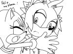 Hina and Fluffys Brother by TheHedgehogMaria