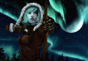 The Huntress and Northern Lights by Mirudan