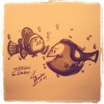 Marlin and Dory by marchbox