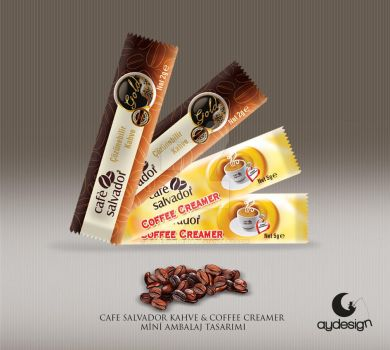 Cafe Salvador Mini Caffee and Creamer Packaging by aydesignmedia