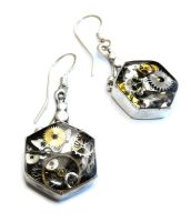 'Inventor's Tool Box' earrings by JLHilton