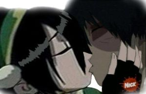 Toph and Zuko's Kiss by Valkyrie-Fire