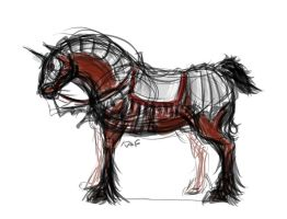 Armoured horse by Kafannia