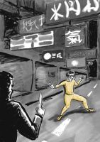 Bruce Lee by scott-j-haselwood