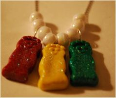 SourPatch Kids Necklace Charms by ParadoxAndPlaid