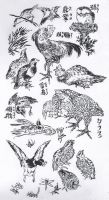 Hokusai - Birds and insects by Kaos-Nest