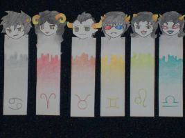 Homestuck Bookmarks 1 by Dubblosix