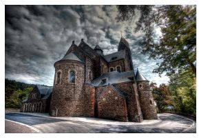 Church of  Clervaux, back side by rhipster