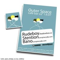 outer space flyer by Rud3Boy