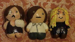 Eileen, Henry,and Walter charms from Silent Hill 4 by PompousPastries