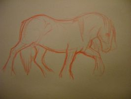 Horse Scribble by ArtistMaz