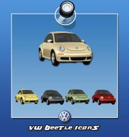 VW Beetle Icons by lemondesign
