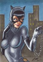 Catwoman ACEO by em-scribbles