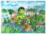 Ruffalo Green Garden by TinyAmazon