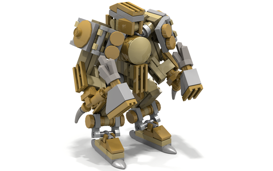 Brass Golem by ArusiaSotto