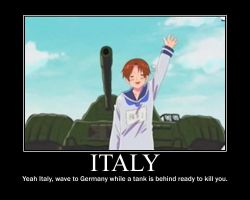 Hetalia Italy Motivational Poster by Mitchie98