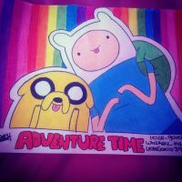 Cute Finn and Jake by Whiskers-the-Cat