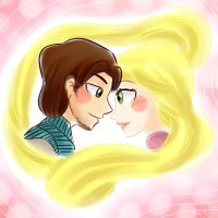 30 Day Challenge - 4th Day - Eugene x Rapunzel by himehisagi
