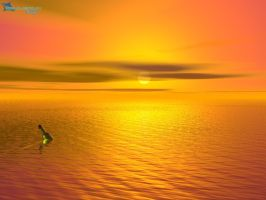 sunset by equilibrium3e