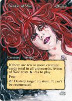 Magic Card Alteration: Avatar of Woe 3/29/13 by Ondal-the-Fool