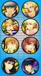 Persona 4 Buttons by Leefuu