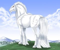 white clouds by WolfsMoon1