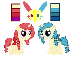 Ponymon Twins Adopts (CLOSED) by kurofa
