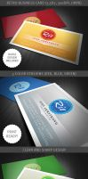 Retro Business Card Template by hugoo13