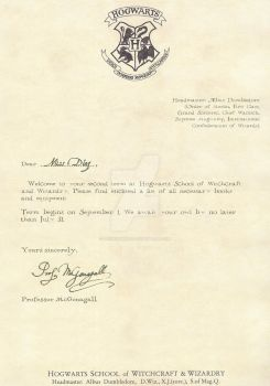 Hogwarts Acceptance Letters By Desiredwings On DeviantArt