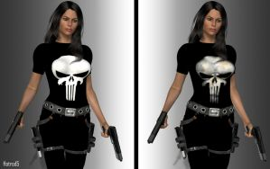 La Femme Punisher Skull Tshirt by hotrod5
