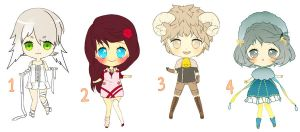 $7 Adoptables - Set 4 CLOSED by plurain