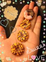 Kawaii Yummy Polymer Clay Biscuits Sweets Deco by mia831