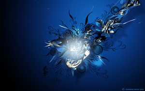 Blue Abstract Vector Wallpaper by Chiddaling