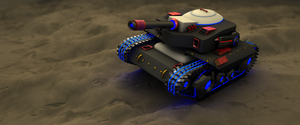 Tank on the moon by danielkrull