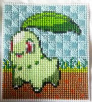 Chikorita in stitches by starrley