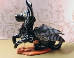 Winged Wolf Sculpture by NightingaleTradingCo