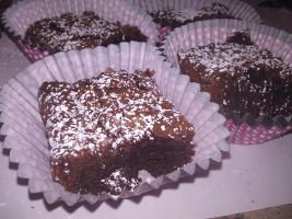 Fudge Brownies by KellyCurly