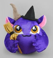 Eve the Witch Puff Monster Plush by SewDesuNe