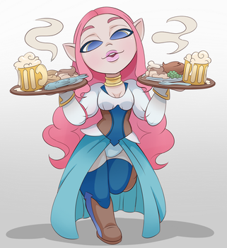 Bar Wench Odette by Fawness