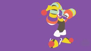 Clown Man Minimalist Wallpaper by Oldhat104