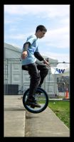 Unicycle jump by InvisibleSnow