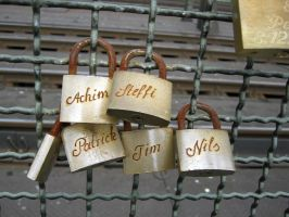padlocks of love 41 by Meltys-stock