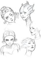 Dr Who Portfolio madame vastra and jenny by SageCOMIC