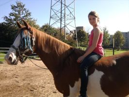 Me on horse by Meliinchen