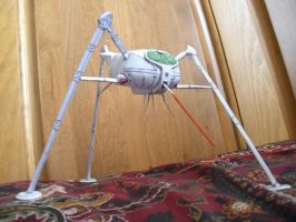 Paper Martian Fighting Machine by DemonBa55Player