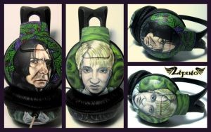 Snape and Draco Headphones by Lipwigs
