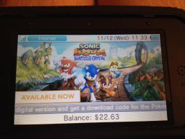 Sonic Boom Shattered Crystal available now by sonicfan40