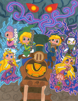 That Zelda game with the Trains by PhantomLatte