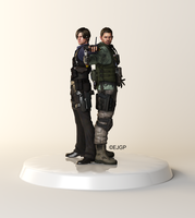 Chris and Leon Action Figure by Sylvan16
