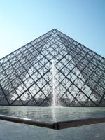 The Louvre Museum Pyramid by StripedRat